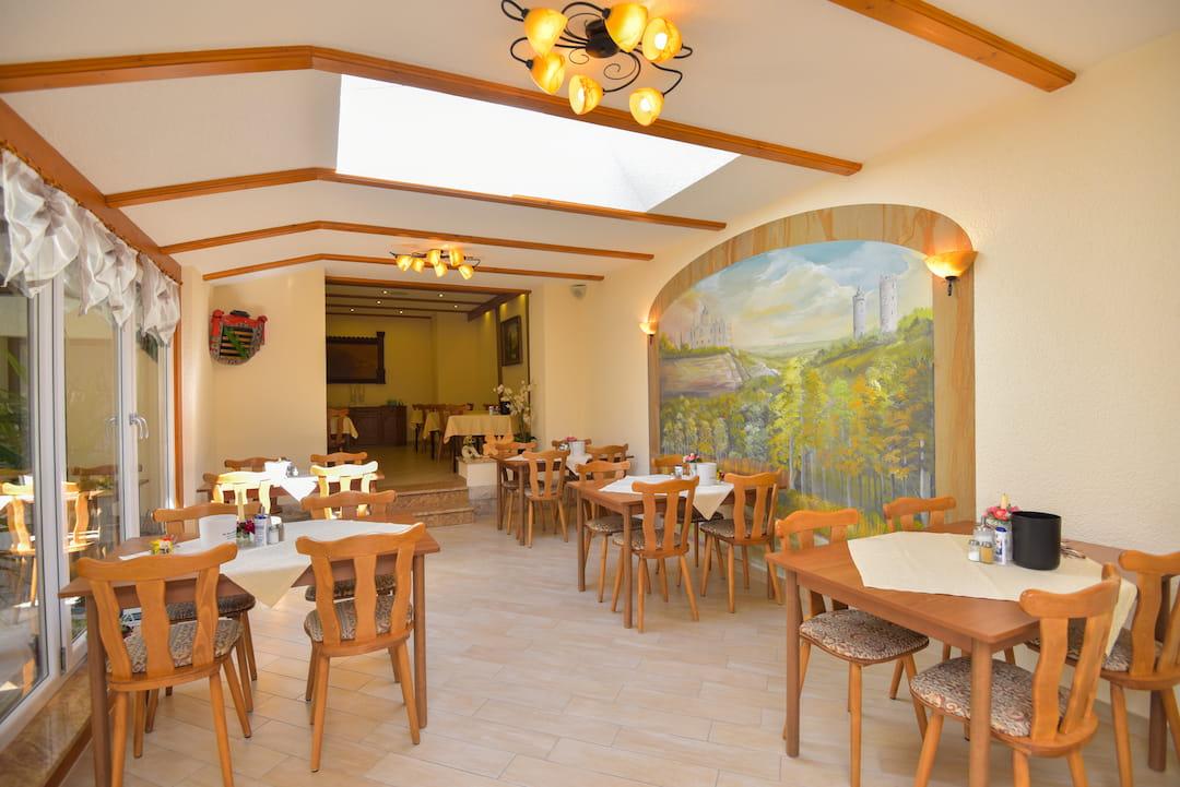 Hotel garni Möller, Bad Sulza, Frühstücksraum und Bar